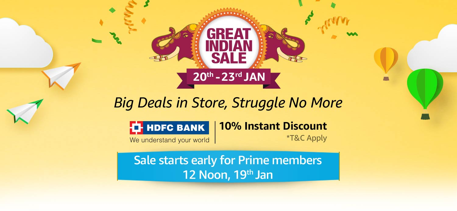 Amazon Great Indian Sale 20th-23rd Jan