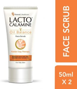 Lacto Calamine Oil Balance Face Scrub, 50g