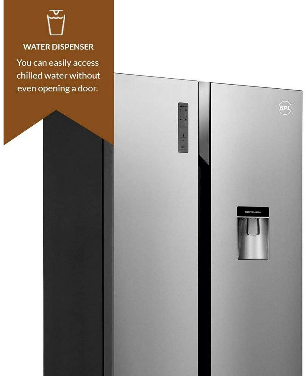 BPL 564 L Frost Free Side-by-Side Refrigerator(BRS564H, Silver)