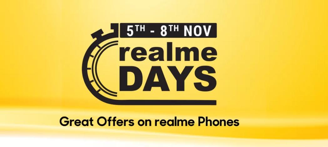 Flipkart Realme Days 5th – 8th Nov