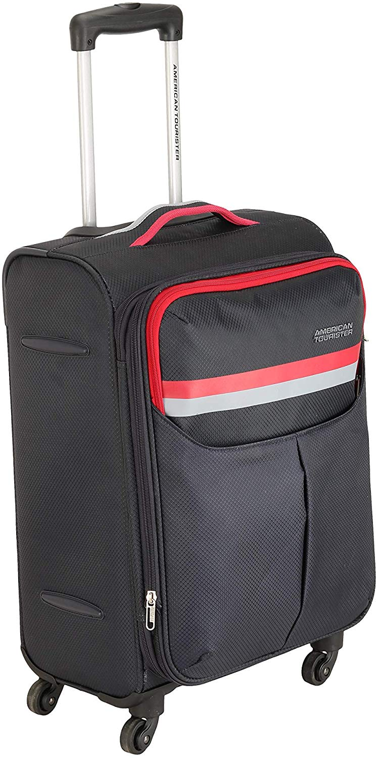 American Tourister Detroit Polyester 81 cms Grey Softsided Check-in Luggage