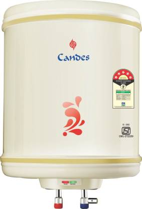 Candes 25 L Storage Water Geyser (25METAL, Ivory)