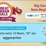 Amazon Great Indian Sale 19th - 22nd JAN