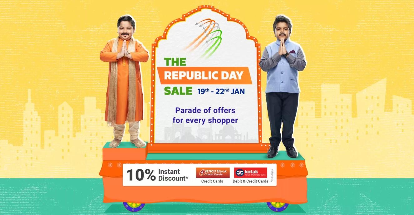 Flipkart Republic Day Sale19th – 22nd Jan