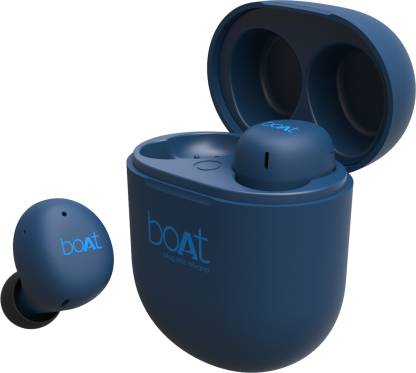 boAt Airdopes 381 Bluetooth Headset with Mic  (Blue, In the Ear)